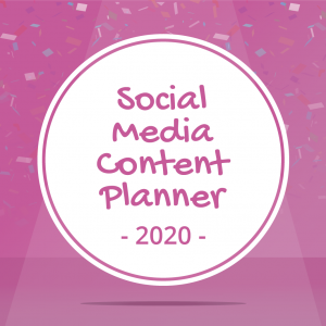 Social Media Content Planner for Party Businesses
